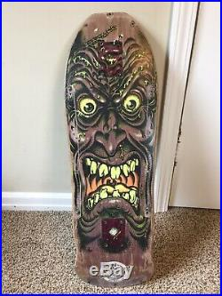 Vintage Santa Cruz skateboards Rob Roskopp face deck NOT A REISSUE