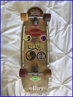 Vintage Sims Lonnie Toft 10.0 Skateboard, G&S, Santa Cruz, Dogtown, Alva