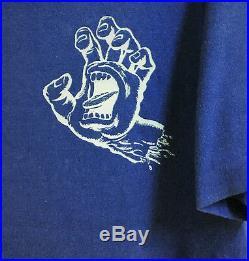 Vintage Single Stitch Santa Cruz Screaming Hand Skateboard T-shirt Punk Zorlac