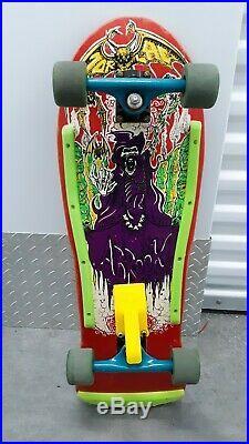 Vintage Skateboard Powell Peralta Vision Santa Cruz G&s Rat Bones Tracker Zorlac