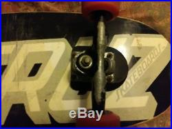 Vintage Skateboard, Santa Cruz Deck, Gull Wing Pro Trucks, Santa Cruz Bullets