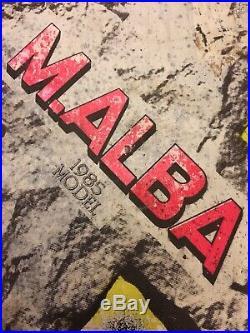 Vintage Skateboard Santa Cruz Micke Alba Malba Tombstone Graveyard Very Rare Old