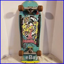 Vintage Skateboard Santa Cruz Rob Roskopp 4 Blue 1980's Independent Trucks OJII