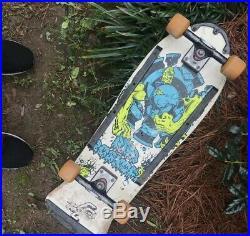 Vintage Skateboard Santa Cruz Rob Roskopp 4 White 1980's Complete MAKE AN OFFER