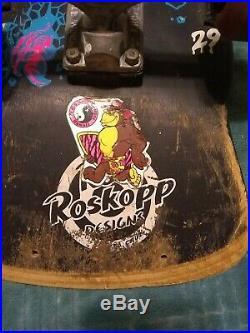 Vintage Skateboard Santa Cruz Rob Roskopp Black 1980's Complete