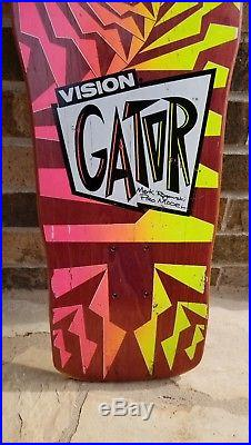 Vintage VISION GATOR Mark Rogowski Skateboard deck Powell Peralta santa Cruz