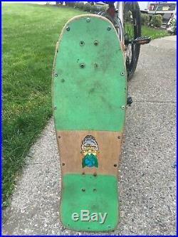 Vintage santa cruz skate board grafeffti 86