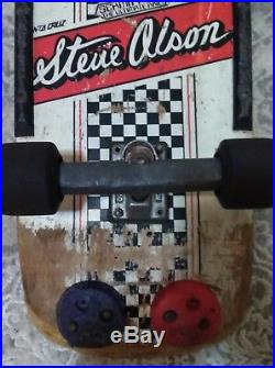 Vintahr Santa Cruz Steve olson skateboard 1981