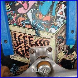 Vtg 1980s Jeff Grosso Toy Box Skateboard Santa Cruz Toybox Black Slime Balls