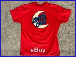 Vtg Santa Cruz Skateboard Moon T Shirt Speed Wheels Jim Phillips 80s 90s skate